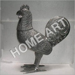 Metal Rooster Statue