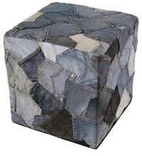 Denim Poufs