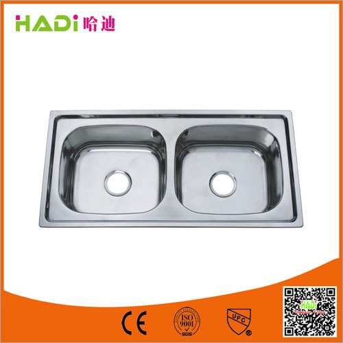 Two Compartment Stainless Steel Kitchen Sink