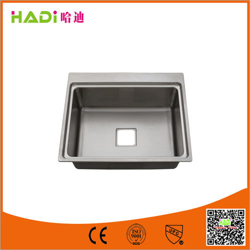 One Compartment Stainless Steel Sink Without Drain
