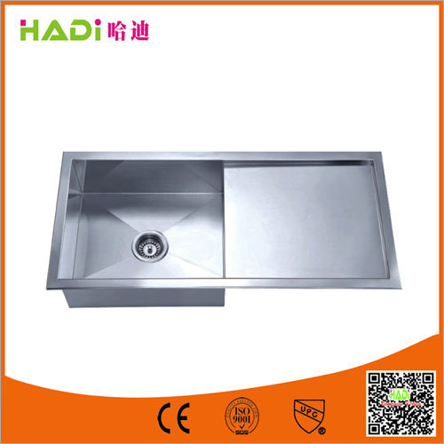 One Compartment Stainless Steel Sink With Drain