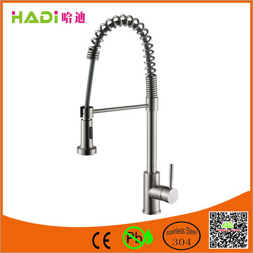 Stainless Steel Pull Out Bathroom Faucet