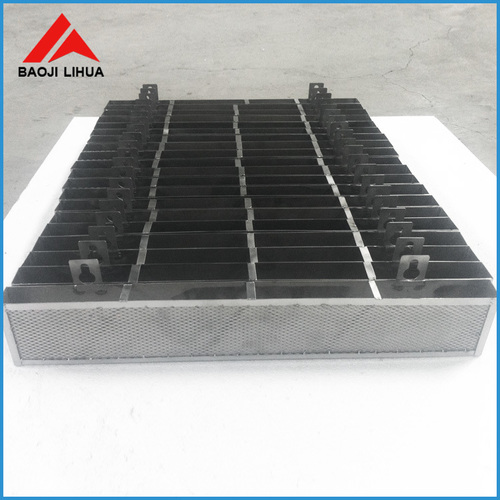 Gr2 titanium anode baskets for electroplating and water treatment