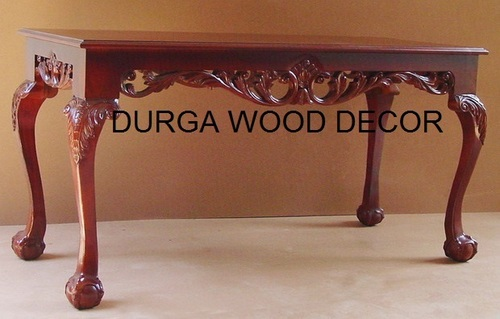 WOODEN CARWED CENTER TABLE