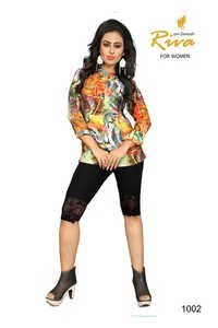 Printed Silk Kurti Suppliers