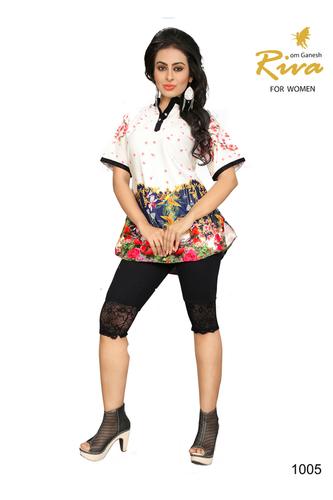 Printed Silk Kurti