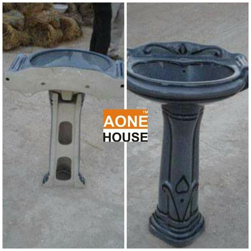 Rustic Design Color Wash Basin Pedestal