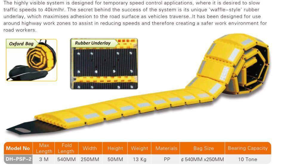 Portable rubber Speed Breaker