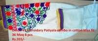 Embroidery patiyala combo