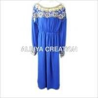 Gorgeous Bead Work Long Dress Kaftan