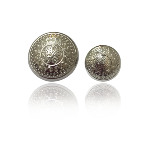Ornate Silver Buttons