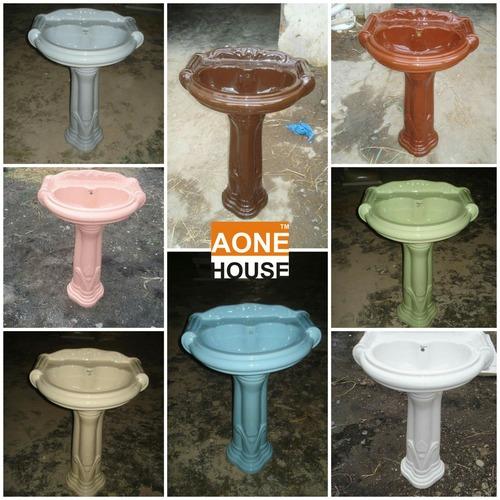 Multi Color Wash Basin Pedestal