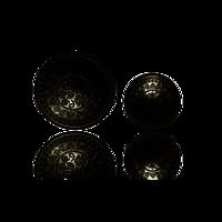 Circular Silver Button