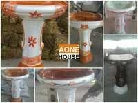 Multi Double Color Design Wash Basin Pedestal