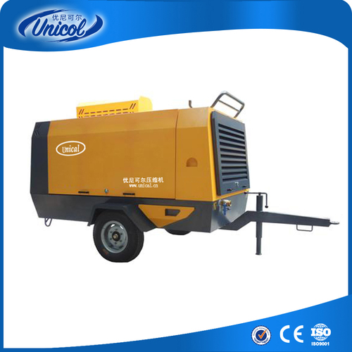 Portable Cummins diesel Screw Air Compressor
