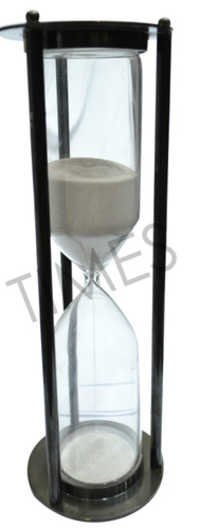 Antique Black Sand Hour Glass