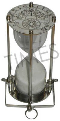 Brass Sand Timer Chrome