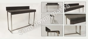 Iron wooden console Table