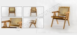 Wooden Sofa With Cane Seat