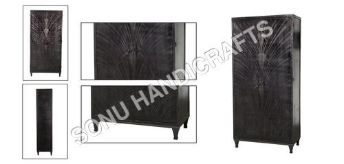 Iron Cabinet With Etching Door