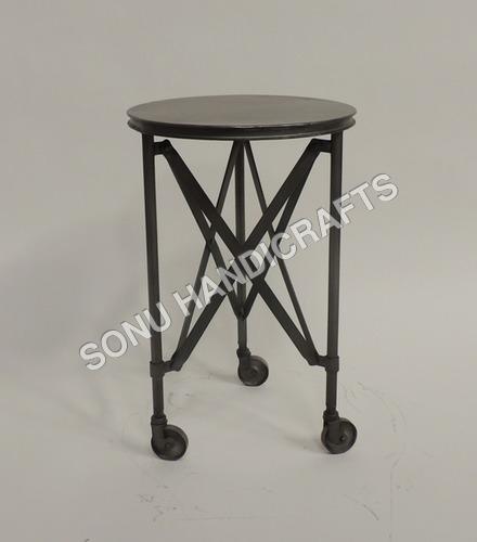 Iron wheel stool