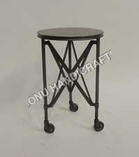 Iron wheel stool