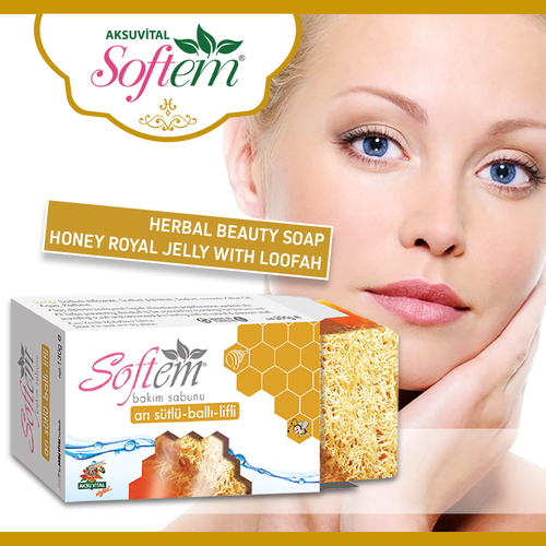 Loofah SoapBeauty soap Honey Royal Jelly Bath Soap