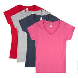 Women V Neck Cotton T-shirts
