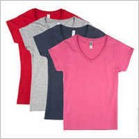 Women V Neck Cotton T-shirts