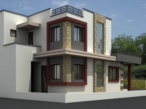 Bungalow Front Elevation In : Bungalow exterior elevation service in vadodara
