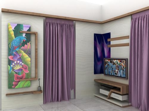 墙壁电视盘区
