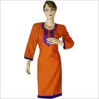 Cotton Embroidery Work Kurti