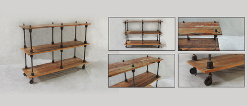 Iron Wooden Console