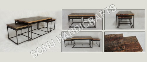 Iron Marble Nesting Table Set