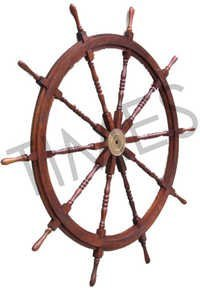 Antique Nautical Ship Wheel