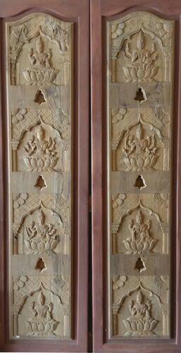 Teak Wood Doors for Pooja Almirah