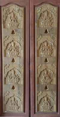 Teak Wood Doors for Pooja Almirah