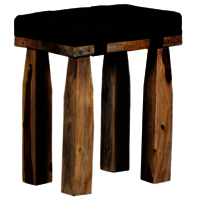 Leather wooden stool