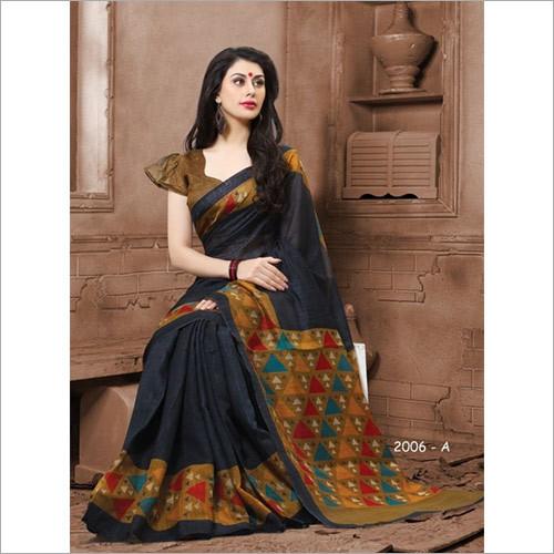 Designer Type Cotton Silk Saree