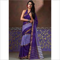 Purple Color Cotton Silk Saree