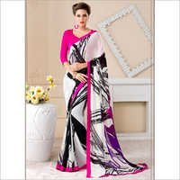 Casual Wear Georgette Multi Colour Printed Saree