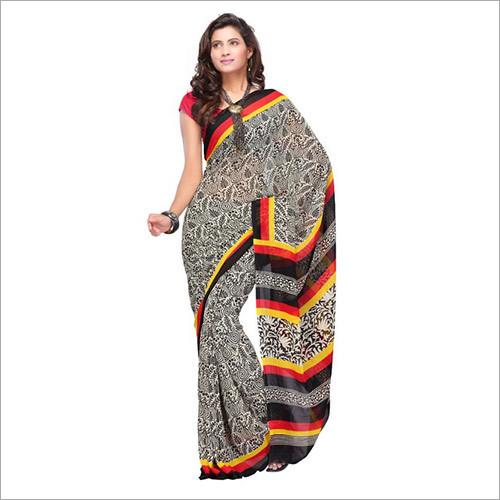 Fabdeal Black Printed Saree