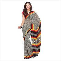 Fabdeal Black Printed Saree