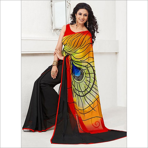 Multi Colour Fancy Printed Saree