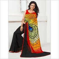 Multi Colour Fancy Printed Saree