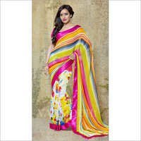 Multicolor Georgette Printed Saree