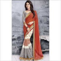 Organge Printed Saree