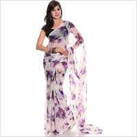 Printed Chiffon Sari