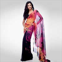 Watercolor Bride Georgette Printed Saree