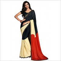 Black Party Wear Pure Crepe Saree